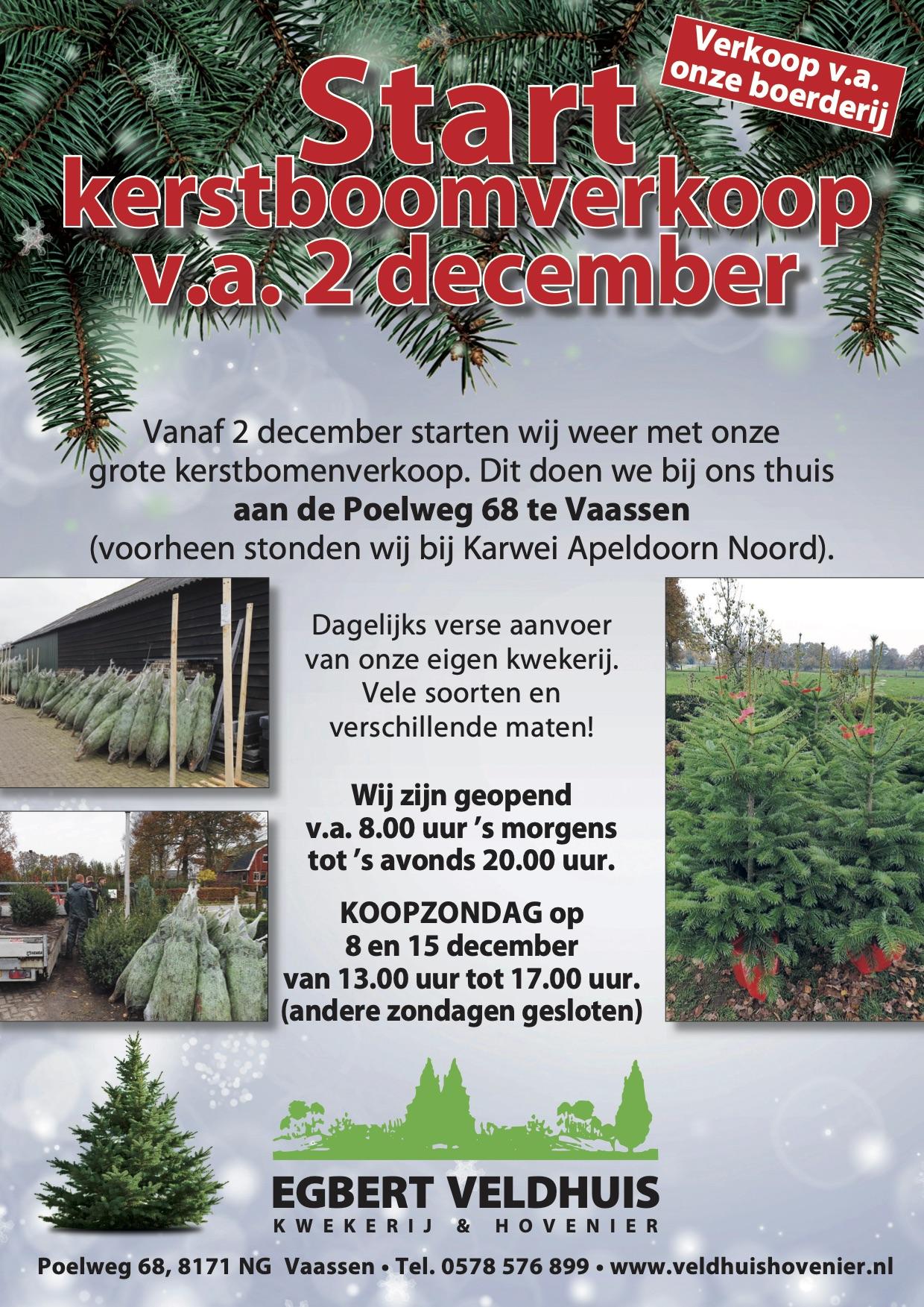Kerstboomverkoop Veldhuis Hovenier